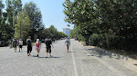 The path to the New Acropolis Museum