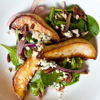 Caramelized Pear and Blue Cheese Salad