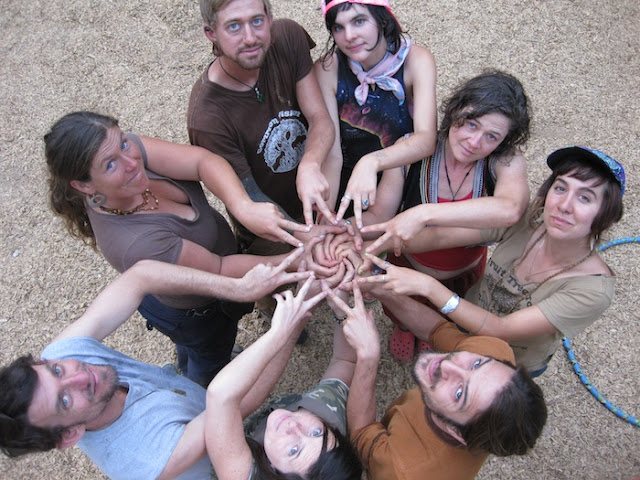 Star Spirals with COmmon VIsion after planting fruit trees at a local school!