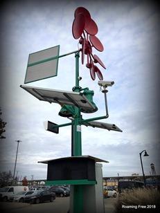 Windand solar powered camera