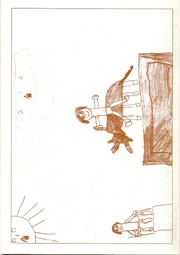 Contraportada Revista Pancrudo nº3 (1999). Dibujo: Atracción infantil por David Pérez Martín (5 años)