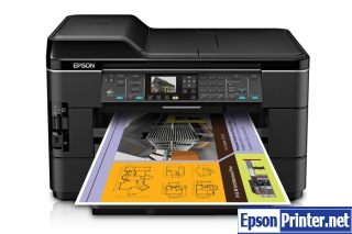 How to reset Epson WorkForce WF-7521 printer