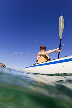 Photo: Young woman kayaking on the Sea of Cortez, Mexico