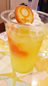 My Sailor Venus drink at Namja Town included orange heart fruit.