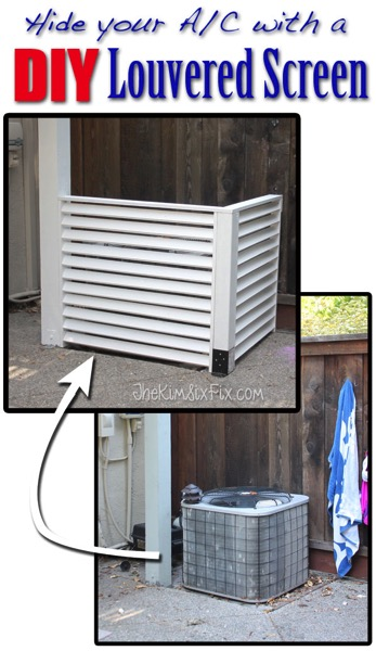 Hide your Air conditioner with a DIY screen
