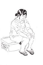Photo: 下一個2012.06.04鋼筆 診間裡的女收容人,靜靜地等待叫號看診…
