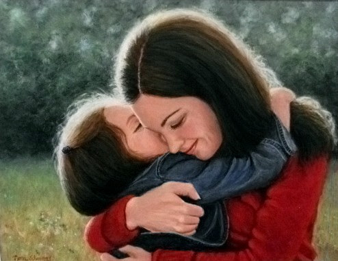 """""""Mother and Child"""" by Nora Schomogy. Acyrlic. NFS."""