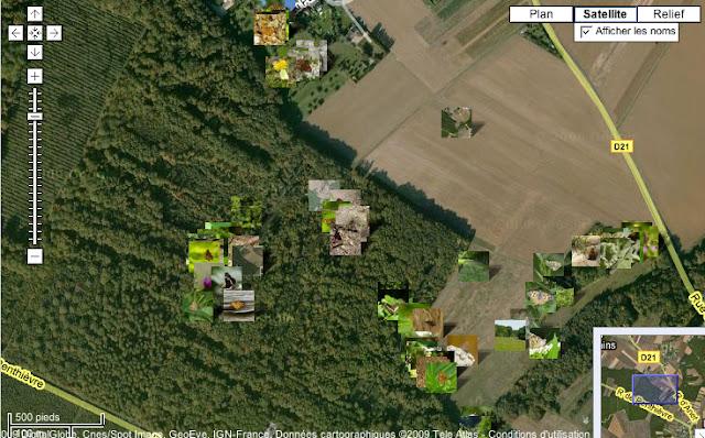 Localisation des photos 2009