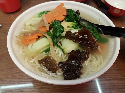 Vegetable soup noodle from Yechun Tea House at Chinatown Point