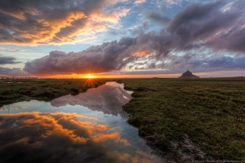 Mont St Michel sunset Vanguard