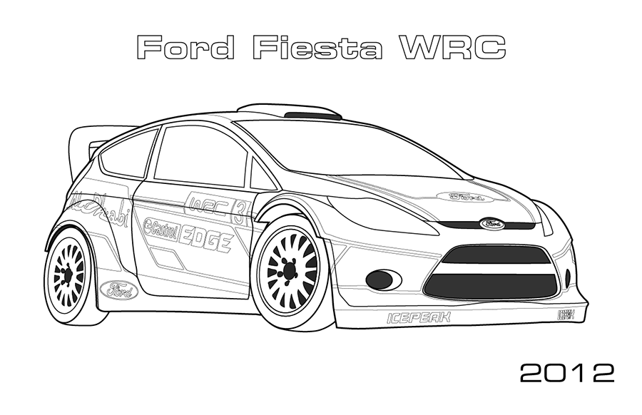 rally cars car coloring pages