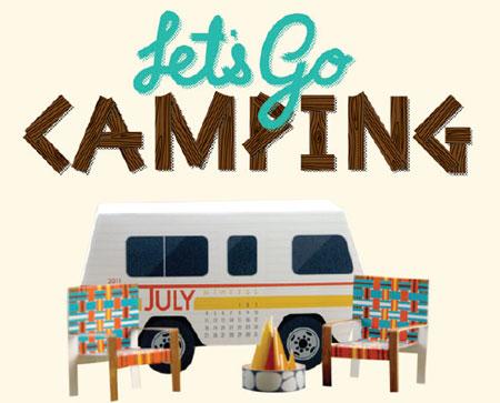 2011 Camping Van Papercraft Set