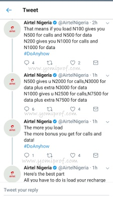 Get 10x bonus for calls and data on Airtel network