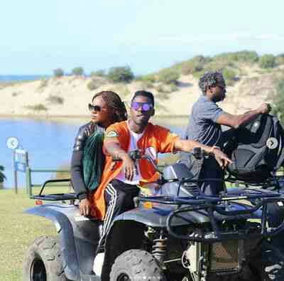 Jackie Appiah, Orezi, Seyi Shay, John Dumelo & Others Go Quad Biking On SA Beach