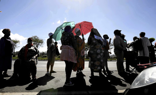 Long queues form outside the Sassa office in Eerste River, Cape Town. The grant was discontinued in October but the government has been under pressure to reinstate the temporary relief measure. File picture.