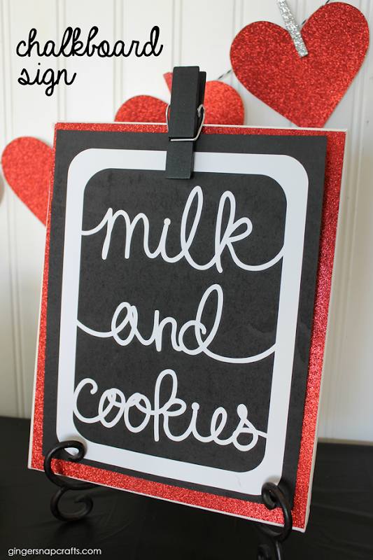 Chalkboard Milk & Cookies Sign