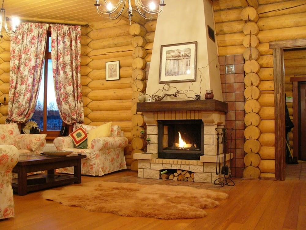 камин в деревянном доме фото можно