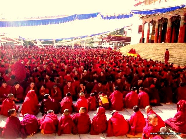 Massive religious gathering and enthronement of Dalai Lama's portrait in Lithang, Tibet. - l40.JPG