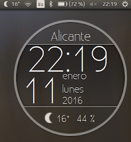 My Weather Indicator para Ubuntu - Widget 1
