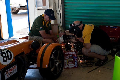 In the pits repair work