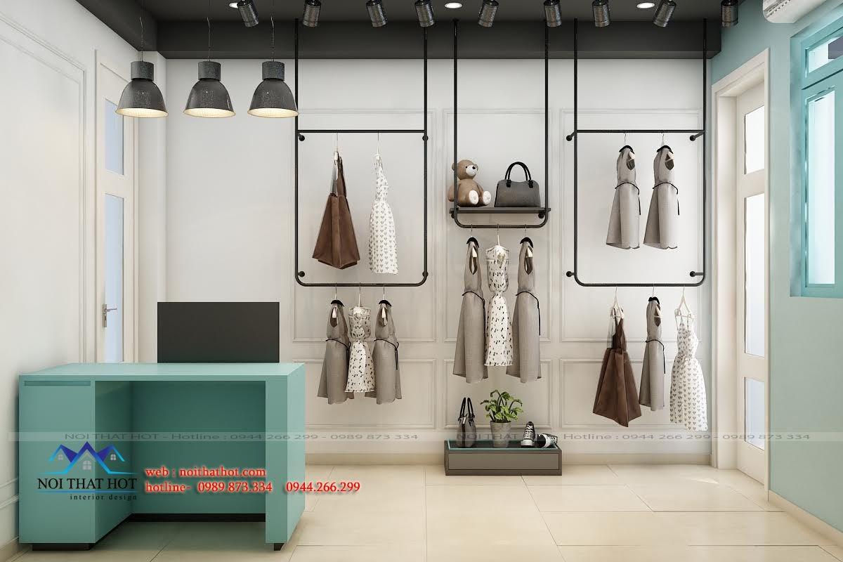 thiết kế shop thời trang cá tính