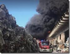 L'incendio a Pomezia