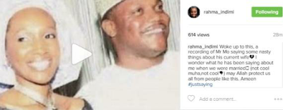 Rahama Indimi Confirms Split With Gen. Ibrahim Babangida's Son