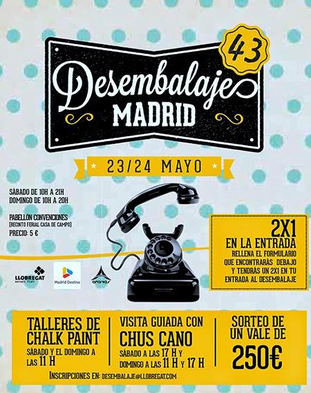 Desembalaje Madrid, en la Casa de Campo, los días 23 y 24 de mayo de 2015