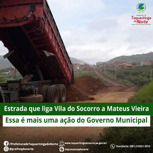 Manutenção das estradas de Taquaritinga do Norte