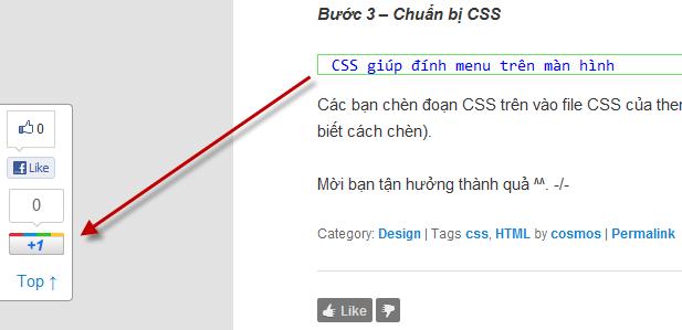 menu html và css