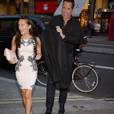 WWW.ENTSIMAGES.COM -   Frankie Poultney and David Seaman  arriving at          FORBIDDEN BROADWAY - Press Night at Vaudeville Theatre London September 15th 2014Phillip George directs return of Gerard Akessandrini's comedy revue which, when it was first performed in New York, poked fun at a range of Broadway stars including Whoopi Goldberg and Elaine Paige.                                             Photo Mobis Photos/OIC 0203 174 1069