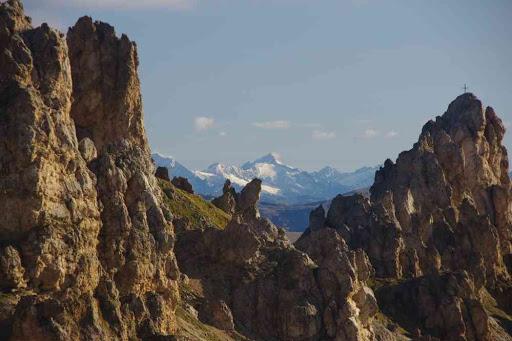 Vue sur les Alpes autrichiennes.