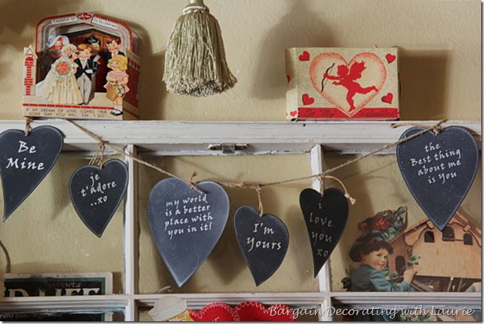 Chalkboard heart Valentine garland