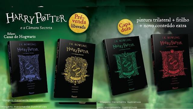 Já em Pré Venda Livro Harry Potter e a Câmara Secreta – Edição Casas de Hogwarts