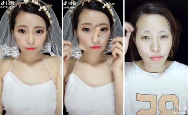 Vídeo apresenta uma incrível maquiagem sendo retirada revelando o rosto original