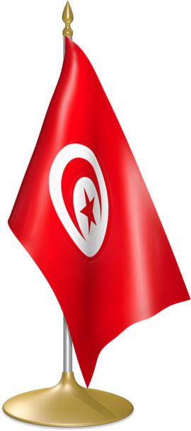 Tunisian table flags - desk flags