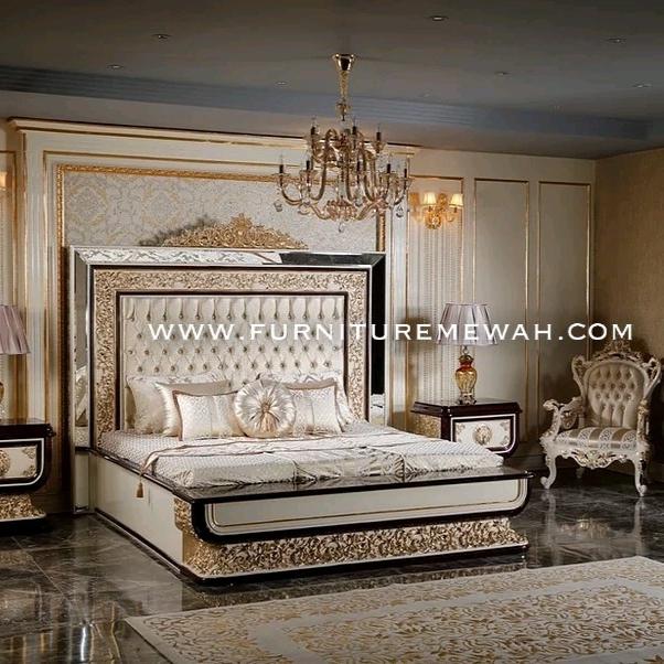 Set Kamar Tidur Gold Kombinasi Kaca
