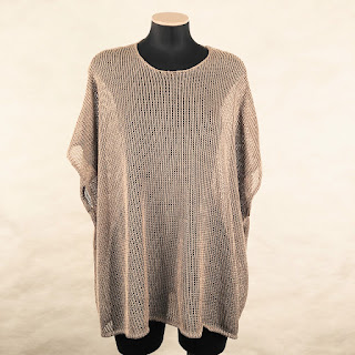*SALE* Calvin Klein Collection Linen Poncho Sweater