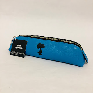 Coach NEW Snoopy Pencil Case