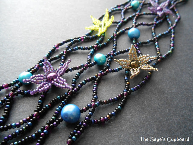 Beaded Starfish Lariat