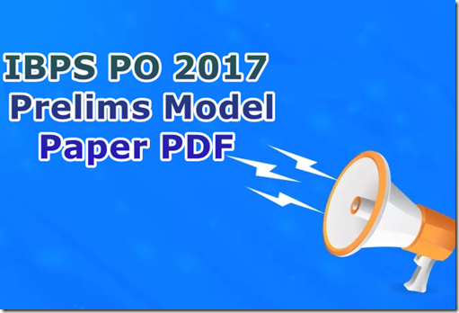 Ibps po model question paper with answers PDF