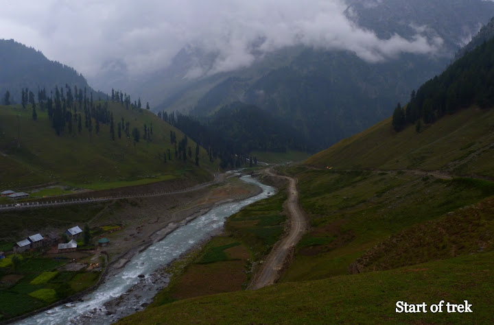 Kashmir great lakes trek start