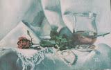 walentynkowa róża, olej, płotno, 27x41 cm