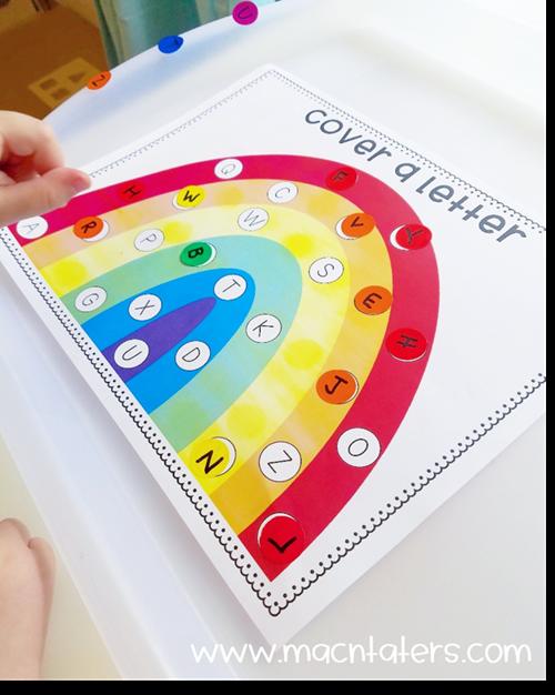 Rainbow Sticker Letter Match