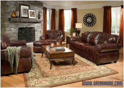 Sofa  Warna Coklat Tua