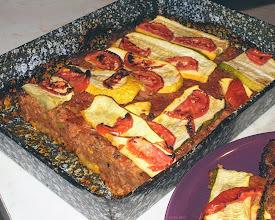 Photo: Cukinia zapiekana z mielonym mięsem i pomidorami (podana z młodymi ziemniakami) 40