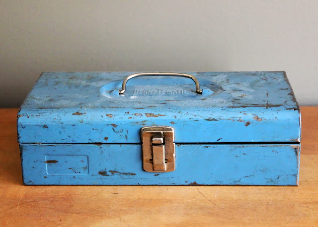 Small blue tool box available for rent from www.momentarilyyours.com, $1.50