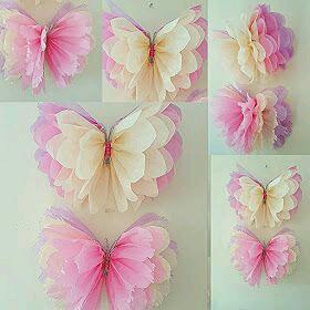 Como Hacer Mariposas Con Papel De Seda