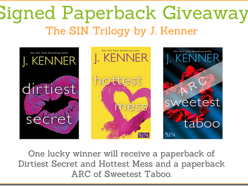 Signed Paperback Giveaway: The SIN Trilogy by J. Kenner