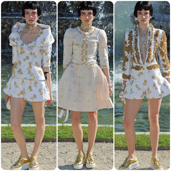 Chanel Resort 2013 Gold and White